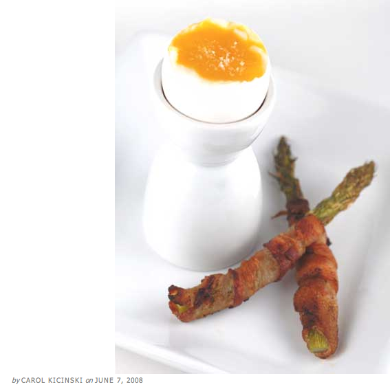 Paleo bacon asparagus egg soldiers